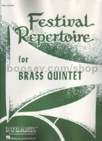Festival Repertoire for Brass Quintet (full score)