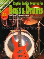 Progressive Rhythm Section Grooves for Bass & Drums (Book & CD)