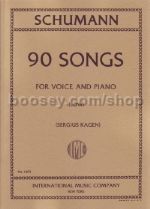 90 Songs for Low Voice (German/English)