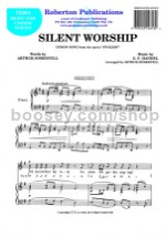 Silent Worship (in G) for unison voices