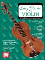Easy Classics For Violin Spitzer Violin & Pf