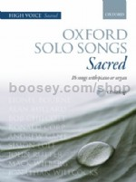 Oxford Solo Songs: Sacred 16 songs with piano or organ (Book & CD) High Voice