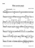 What Sweeter Music (double bass) SATB & organ/strings
