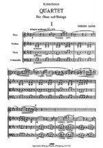 Quartet for Oboe and Strings (miniature score)
