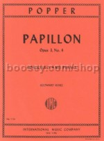 Papillon Op 3 No.4  (cello & piano)