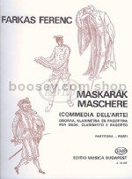 "Mascarade (""Maschere"") for Oboe, Clarinet and Bassoon (score & parts)"