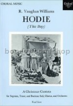 "This Day (from ""Hodie - A Christmas Cantata"") vocal score"