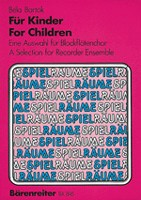 For Children Sz.42 (arr. recorder ensemble)