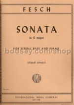 Sonata in G for Double Bass and Piano