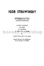 Pribaoutki (Miniature Score) (Medium Voice & Eight Instruments)