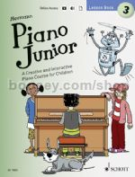 Piano Junior: Lesson Book 3 (Book + Download)