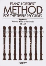 Method for the Treble Recorder - treble recorder