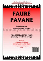 Pavane for orchestra (score & parts)