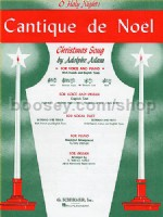 Cantique de Noel Med Low in C Voice & Piano (Fr/Eng)