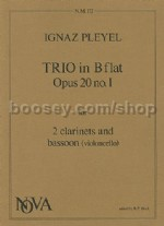Trio In Bb Op. 20 No.1 for 2 Clarinets and Bassoon