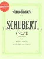 "Sonata in A minor D821 ""Arpeggione"" (Cello) score + CD"
