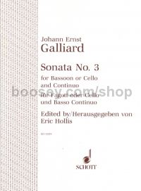 Sonata No.3 for bassoon/cello