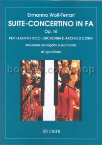Suite-concertino in F Major, Op.16 (Bassoon & Piano)