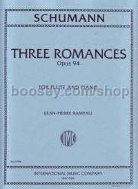 Three Romances Op. 94 for flute and piano