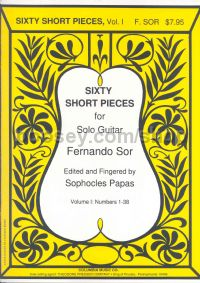 Sor Sixty Short Pieces vol.1 Papas