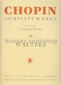 Complete Works, Vol. IX: Waltzes for piano solo