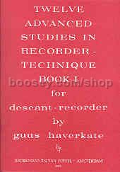 12 Advanced Studies in Recorder Technique for Descant Recorder, Book 1