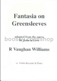 Fantasia On Greensleeves (arr. treble recorder & piano)
