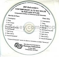 Contemporary solos in pop jazz styles CD