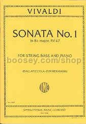 Sonata No. 1 in B-flat major, RV 47 - for Double Bass
