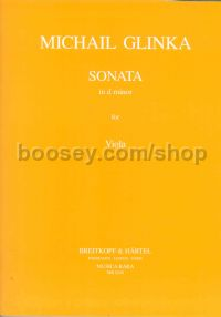 Sonata in D minor for viola & piano (Musica Rara)