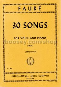 30 Songs High Voice piano