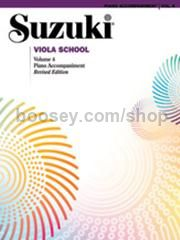 Suzuki Viola School Vol.4 Piano Accompaniment