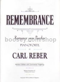 Remembrance Rromance Sans Paroles) Piano