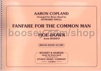 Fanfare for the Common Man & Hoe Down (Brass Band) (Full Score)