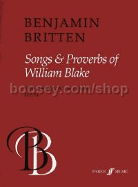 Songs & Proverbs of William Blake, Op.74 (Baritone & Piano)