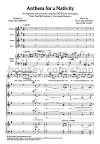 "Anthem for a Nativity from ""Liverpool Oratorio"" (SATB & Piano)"