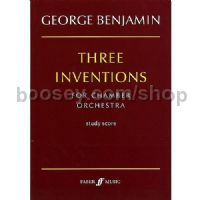 Three Inventions for Chamber Orchestra (Study Score)