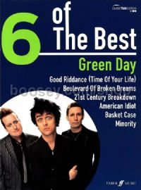 6 of the Best: Green Day (Voice & Guitar Tablature)