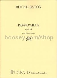 Passacaille, Op. 35 for Flute and Piano