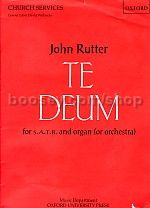 Te Deum (vocal score) SATB & organ