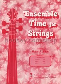 Ensemble Time For Strings Book 1 String Bass
