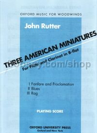 3 American Miniatures For Flute & Clarinet