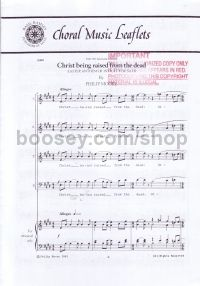 Christ Being Raised From The Dead SATB