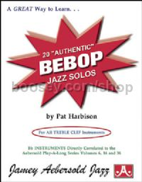 20 Authentic Bebop Jazz Solos (Jamey Aebersold Jazz Play-along)