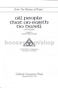 All people that on earth do dwell (Old Hundredth) (vocal score)