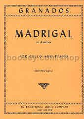 Madrigal in A Minor for Cello