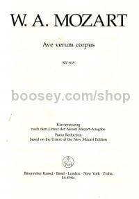 Ave Verum K618 Vocal Score