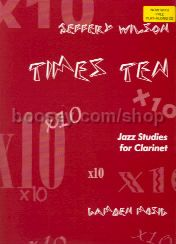 Times Ten - Jazz Studies For Clarinet (Book & CD)