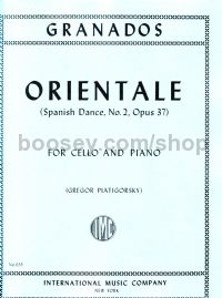 Orientale Op 37 No.2 for cello