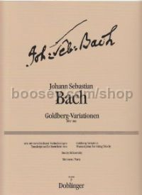 Goldberg Variations for string trio (set of parts)